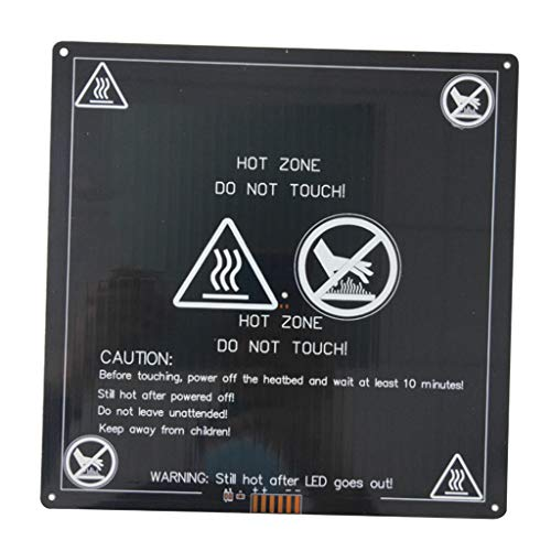 PETSOLA 3mm MK3 Aluminum Board PCB Heatbed Hot Bed for Reprap Standard 3D Printers