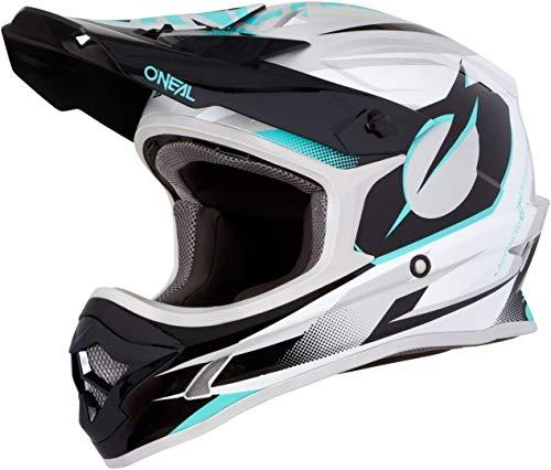 O'Neal 3Series Riff Motocross Helm MX MTB FR DH Mountain Bike Freeride Downhill Fahrrad, 0623-R-Adult, Farbe Petrol, Größe L