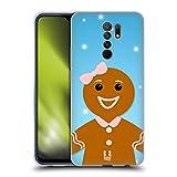 Head Case Designs Mujer De Pan De Jengibre Caracteres de La Navidad Alegres Carcasa de Gel de Silicona Compatible con Xiaomi Redmi 9