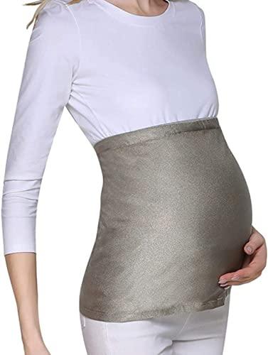 CEXTT Abiti di maternità Anti-radiazione, EMF. Schermo di Protezione maternità di Sicurezza for antini statici Antiscivolo Anti-radiazione Anti-radiazione, Argento -XXL.