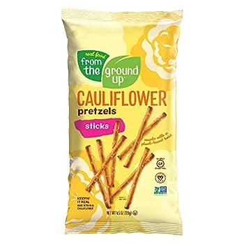 Real Food From The Ground Up Vegan Cauliflower Pretzels Gluten Free Non-GMO 6 Pack  Sticks