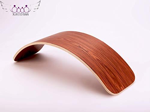KateHaa Original Rosewood Wooden Balance Board (Balanceboard aus Holz), 90 cm | Eco Lacquer, Waldorf Balance Board, Open Ended Toy, Yogaboard, Wobble Balance Board