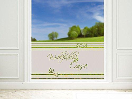 GRAZDesign Sichtschutzfolie Badezimmer Duschtür Dekor Glastür Sichtschutzfolie für Bad Schmetterling / 90x57cm