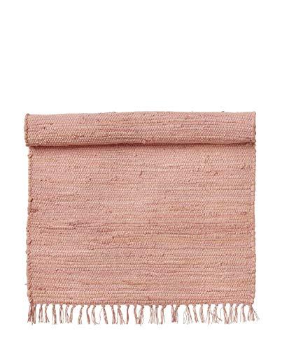 Bungalow Denmark - Rug - Chindi mat Ivy - Teppich/Matte/Läufer/Bettvorleger - Baumwolle 80% / Andere Fasern 20% - rosa - 70cm x 130cm