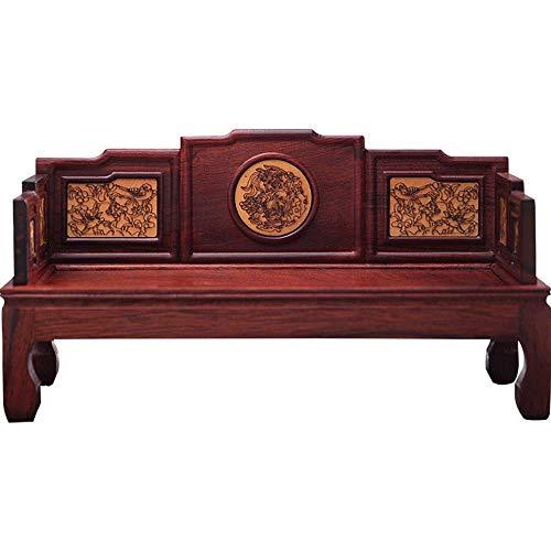 JIAJIA Möbel Model Set Red Palisander Mini-Möbel-Miniatur Möbel Chinesische antike Boxwood Arhat Bett Antike Ornamente