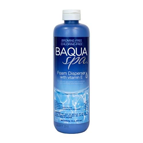Baqua Spa 83801 Foam Disperser with Vitamin E Spa and Hot Tub Clarifier, 16 oz
