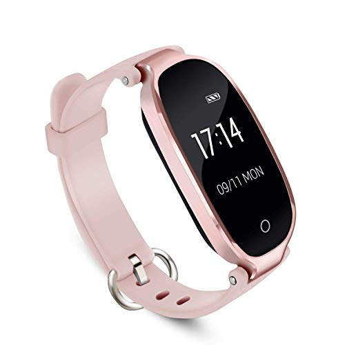 Smart Watch for Women, Fitness Watch for Women Heart Rate Monitor Watches, Support Sleep Activity Tracker, IP67 Waterproof Fitness Smartwatch for Android/iOS(Rose Gold)