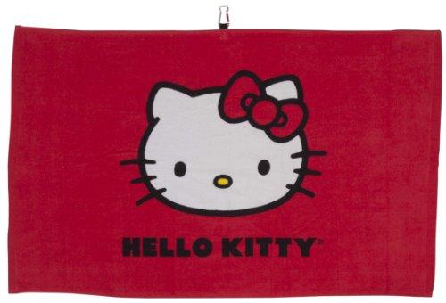 HELLO KITTY Serviette de Golf Tour, Mixte, HKG-Towel.Tour.Red, Red