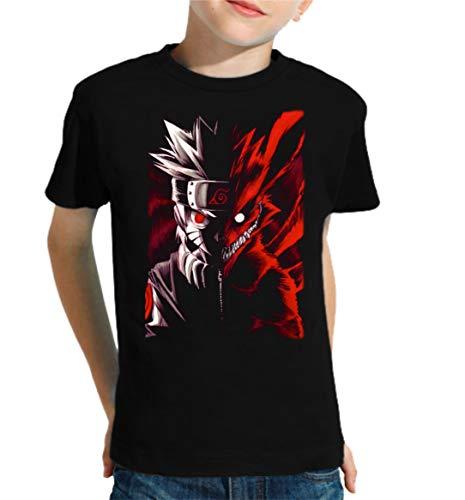 Camiseta de NIÑOS Naruto Manga Anime Shuriken Sasuke Kakashi 001 5-6 años