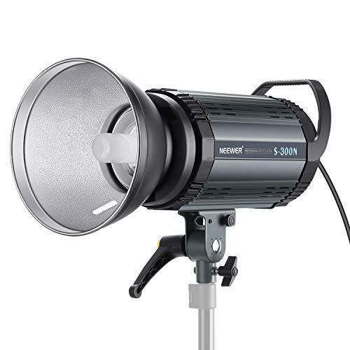 Neewer S300N Profi Studio Mondlicht Strobe Blitz Licht 300W 5600K mit Modellierung Lampe, Aluminium Legierung professionell Speedlite für Indoor Studio Lokationsmodell und Porträt Fotografie