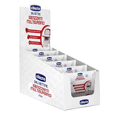 Chicco Hygiene-Tücher für verschiedene Oberflächen, 12 Packungen mit 20 Stück