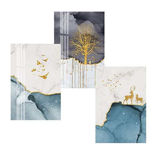 SUNSK Cuadros Decorativos Pared Láminas Decorativas para Pared Cuadros Decorativos para Sala Dormitorios y Cocina Cuadros Decoracion Modernos Arte Mural 3 Piezas