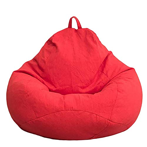 Funda grande para sillón puf, funda para tumbona interior perezosa, cojines para suelo puf, muebles inflables para sillón puf sin puf, funda puf para sofá perezoso, cojines para asiento de relleno, s
