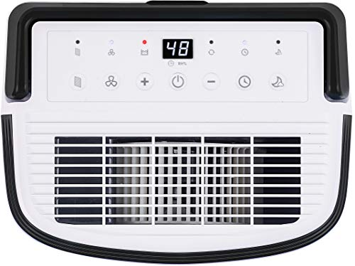 Honeywell Basement & Small Room Up to 1000 Sq. Ft, TP30AWKN Smart Wi-Fi Energy Star Dehumidifier, 30 Pint, White 11 POWERFUL DEHUMIDIFIER FOR ROOMS UP TO 4000 SQUARE FEET: This powerful beast effectively removes up to 70 pints of moisture from the air (50-Pint 2019 DOE Standard) to protect walls, curtains, furniture and appliances from excess household moisture. Ideal for large basements, living rooms, cellars, and storage rooms. PEACE OF MIND WITH A BRAND YOU TRUST: Honeywell Dehumidifiers are top rated by an independent, US-based product safety-testing agency since 2016 and all Honeywell Dehumidifiers are backed by an outstanding warranty. Plus, if you ever need help, the Honeywell Home Comfort customer service hotline connects you directly to an in-house customer support team who are ready to help (during office hours). SMART & VERSATILE: Wi-Fi-Enabled and compatible with Amazon Alexa voice commands, the Honeywell Smart Dehumidifier can be controlled from almost anywhere. Change humidity and fan-speed settings without moving away from your busy routine.