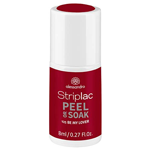 alessandro Striplac Peel or Soak Be my Lover – LED-Nagellack in dezentem Rot – Für perfekte Nägel in 15 Minuten – 1 x 8ml