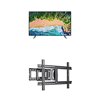 "Samsung UN50NU7100FXZC 50"" 4K Ultra HD Smart LED TV (2018) and Sanus MLF13-B1 Universal Wall Mount (B07KTWBHH9) 