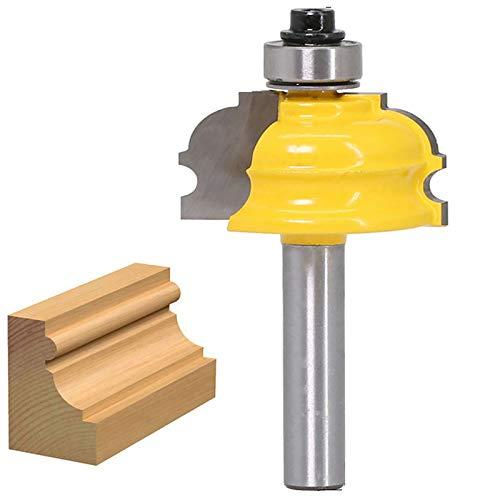 WSOOX Roman Ogee Edge - Broca para fresadora de moldura arquitectónica con vástago de 8 mm, herramientas de fresado para carpintería