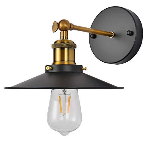 Aplique de pared industrial retro de metal para pared, brazo oscilante, lámpara de iluminación para dormitorio, pasillo, pasillo