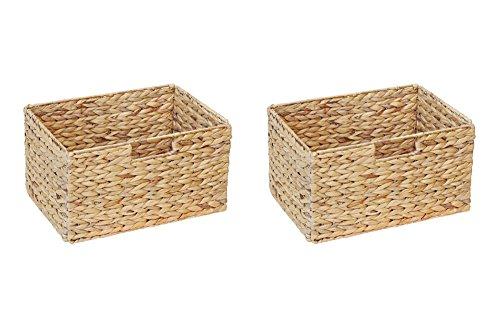 Ikea Billy Regal Korb 37 x 25 x 20 cm aus Wasserhyazinthe Natur Faltkorb Flechtkorb Regalbox Storage Box Aufbewahrungskorb Schrankkorb klappbar faltbar und sehr stabil 2er-Set Sparpreis