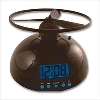 【送料無料】「電池込み」フライングアラームクロック (空飛ぶ目覚まし時計):ブラック