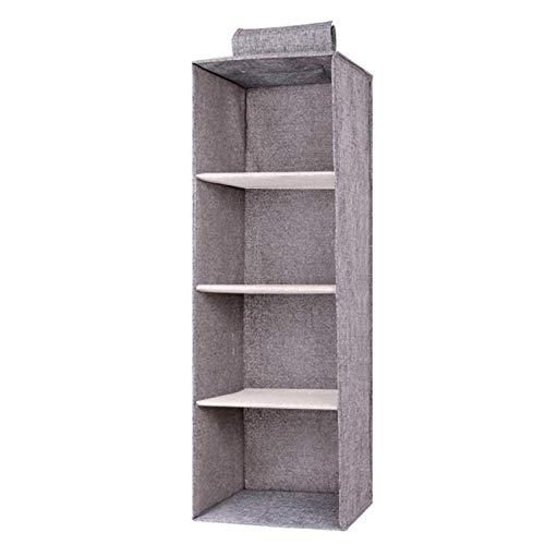 Kisbeibi Caja de almacenamiento, contenedores de almacenamiento a prueba de agua, organizadores de contenedores de almacenamiento con asa para juguetes, libros, dormitorio, hogar (4 capas)