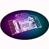 Bykski GPU Waterblock Water Cooler Copper GPU Liquid Cooling Block Liquid Cooler Backplate for for Gigabyte RTX 3060 Ti Vision Eagle Gaming Pro Gaming OC (5V 3-Pin ARGB RBW Aura Effect LED Lights)