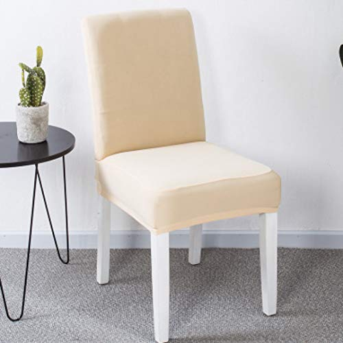 NIKIMI Modern Elastic Short Dining Chair Cover Spandex Anti-Dirty Seat Case Easy to Clean Seat Protective Slipcovers