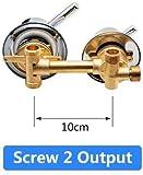 Set de ducha-2 3 4 5 vías Salida de agua Tornillo Rosca Distancia central 10cm 12.5cm Válvula mezcladora Latón Baño Ducha Mezclador Grifo Grifo Cabina-intubar 3out 10cm-C Sello