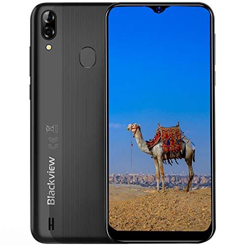 Blackview A60 pro (2019) Telefono Cellulare 4G, Android 9.0 6.1 Waterdrop Schermo Dual SIM Smartphone, Helio A22 Quad-Core 2.0 GHz 3 GB + 16 GB, 4080 mAh, Face ID Unlock Nero