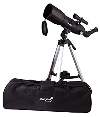 Levenhuk Skyline Portable Travel 80 Refractor Telescope with Bag – Fully Multi-Coated Optics