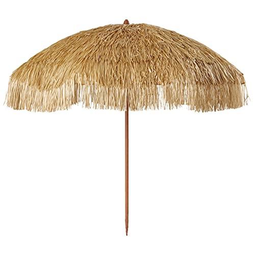 WUKALA Parasol de Plage Hawaien 2m,Parasol de Plage Anti UV Parasol Extérieur Portable,pour Cafe...