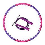 Wuudi Magnetisc Hula Hoop - Pneumatico magnetico per perdita di peso per adulti, 8 sezioni rimovibili con corda per saltare per perdere peso