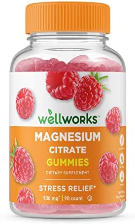 WellWorks Magnesium Citrate Great Tasting Natural Flavor Gummy Supplement Gluten Free Vegetarian product image