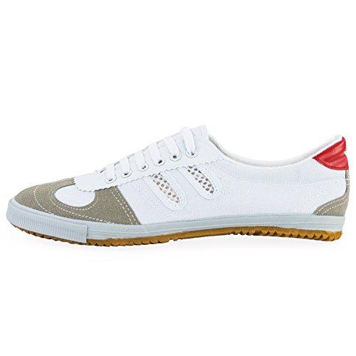 wu designs Shuang Xing Sneaker - Kampfkunst Sport Parkour Wushu Schuhe Weiss 46