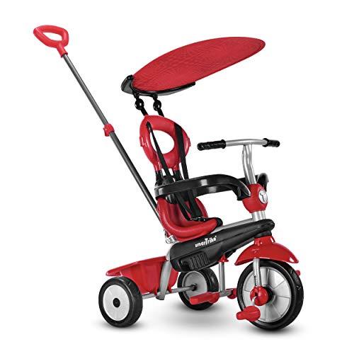 SmarTrike Zoom Triciclo para niño pequeño, para 1, 2, 3 años de Edad. Triciclo multietapa 4 en 1, Rojo