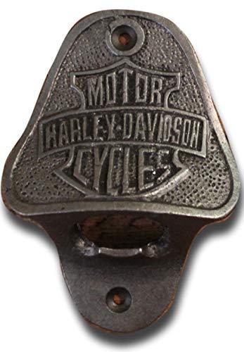 Hardware for You LTD - Apribottiglie da parete in ghisa Harley Davidson, viti di fissaggio in dotazione