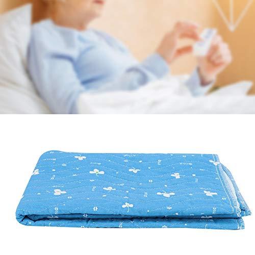 Waschbare Unterlage - Auslaufsicherer Matratzenauflagenschutz Vierlagige Antirutschunterlage for Inkontinenzpatienten for Erwachsene Waschbare wiederverwendbare Unterlagen for ältere Senioren