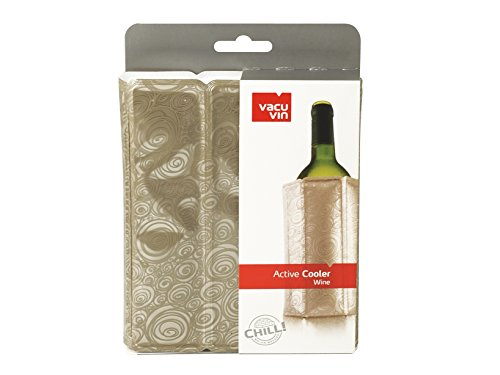 VAC VIN 7994200 VACUVIN - Enfriador de vino platino - Accesorios para el tiempo libre