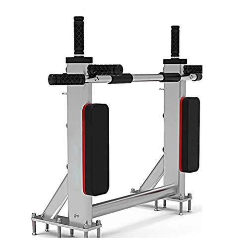 LMCLJJ Wall Mounted Klimmzugbügel, Dip-Station for Body Trainer mit Boxsack Öse for Boxen Strom Seile Slings, Tragfähigkeit 350 kg (Color : White)