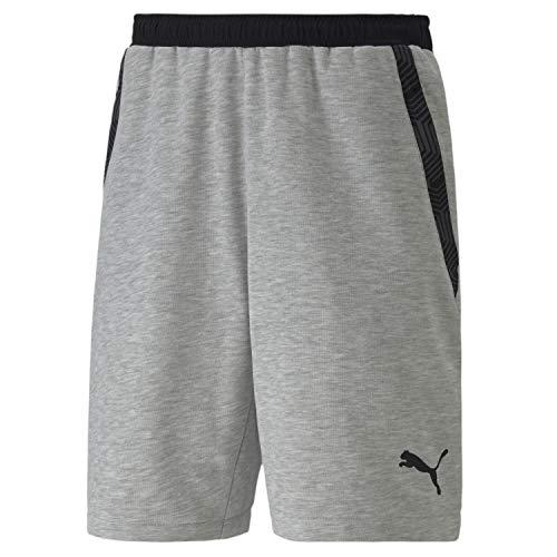 PUMA Herren teamFINAL 21 Casuals Shorts, Light Gray Heather, L