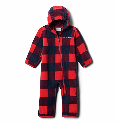 Columbia Baby Boys Snowtop II Bunting, Mountain Red Check Print/Mountain Red, 18-24 Months