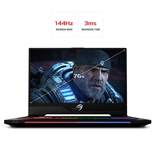 "Asus ROG Strix Scar II Gaming Laptop, 15.6"" 144Hz IPS Type Full HD, NVIDIA GeForce RTX 2070, Intel Core i7-8750H, 16GB DDR4, 512GB PCIe Nvme SSD, RGB KB, Windows 10, GL504GW-DS74"