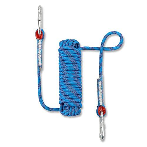 NIECOR Statisches Kletterseil für den Außenbereich, 12 mm, hochfestes Zubehör, Brandfluchtssicherheit, Rappelling Seil, 81,9 m, 124,8 m, blau, 10m(32ft)