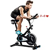 Indoor Cycling Bike Trainer Spin Bike Professional Stationary Bike Cycle Exercise Bike for Home Cardio Gym Workout (Dark Black)