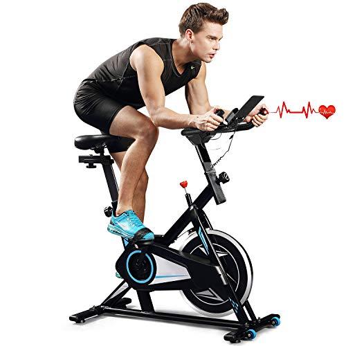 Indoor Cycling Bike Trainer Spin Bike Professional Stationary Bike...