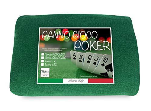 Mantel para juegos de cartas como el póquer para proteger la mesa, verde, 150x150cm, cuadrado