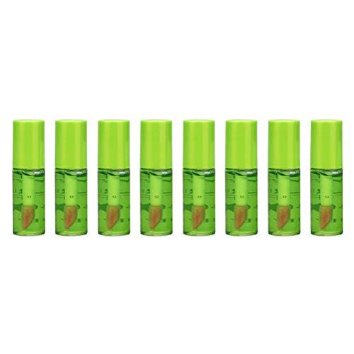 OUTEYE Lápiz Labial de Aloe Vera - 8 Piezas de lápiz Labial líquido de Larga duración con Brillo Labial de Aloe Vera, Cambio de Color hidratante