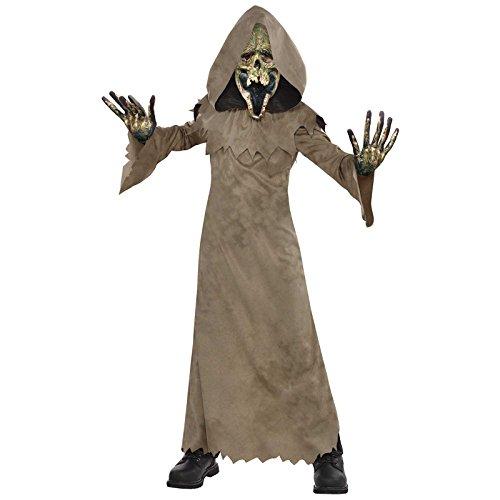 amscan- Hooded Swamp Costume Years-1 Pc Disfraz de zombi con capucha para niños de 8 a 10 años, 1 unidad, Small Age Ages 8-10 (9902096)