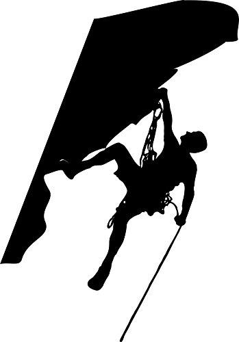 KFZ Aufkleber: Klettern, Climbing, Bouldern, Berg, Natur, Sport //(Schwarz - 200 mm x 140 mm)