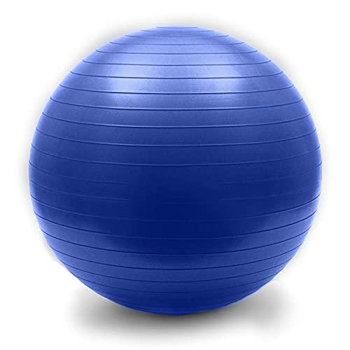 YANGHUI Bolas De Masaje Bola De Yoga Deporte Bola De Yoga Bola Suiza Bola Gimnasio Bola Anti Ráfaga De Entrenamiento (Oficina Y Hogar Y Gimnasio) Bola De Birthing Ball Ball,Azul,90cm
